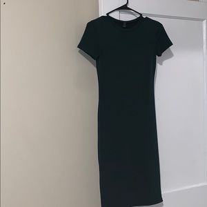 Dark green fitted dress